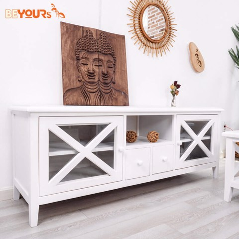 KỆ TIVI C01 TV SHELF WHITE
