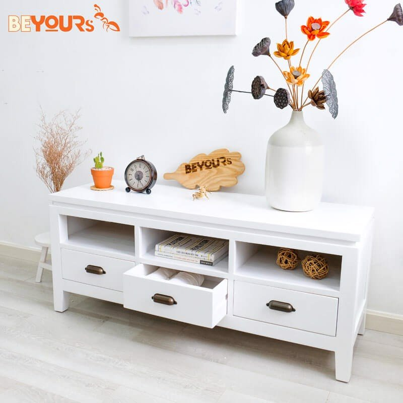 KỆ TIVI B01 TV SHELF WHITE