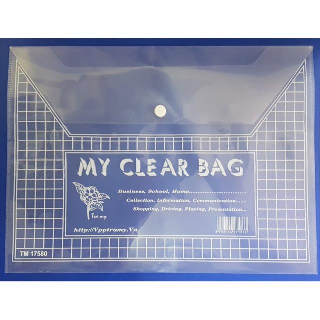 Túi khuy bấm A4 mỏng TM 17580 (20 cái/tập)