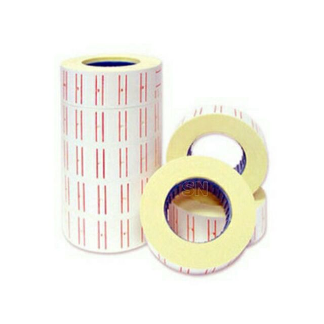 Băng dính (băng keo) giấy dán giá tiền (10 cuộn/cây)