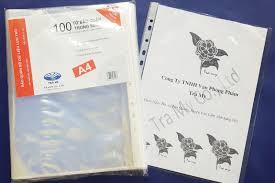 Túi sơ mi lỗ (bìa lỗ) A4 Trà My (100 chiếc/tập)