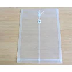 Túi hồ sơ, túi clear Trà My buộc dây khổ F4 119 (tập 12 cái)