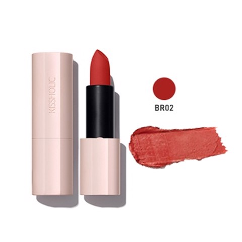 Son môi The Saem Kissholic Lipstick Matte BR02 Reverse Time (3.5g)