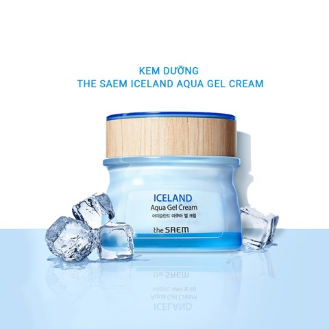 Kem dưỡng da The Saem  Iceland Aqua Gel Cream 60ml