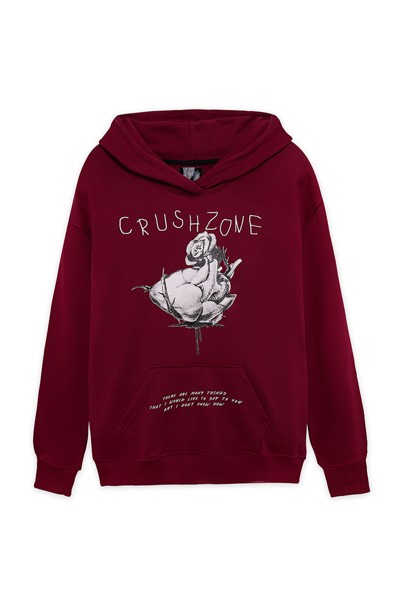 LovePlaylist CrushZone - Hoodie - Red