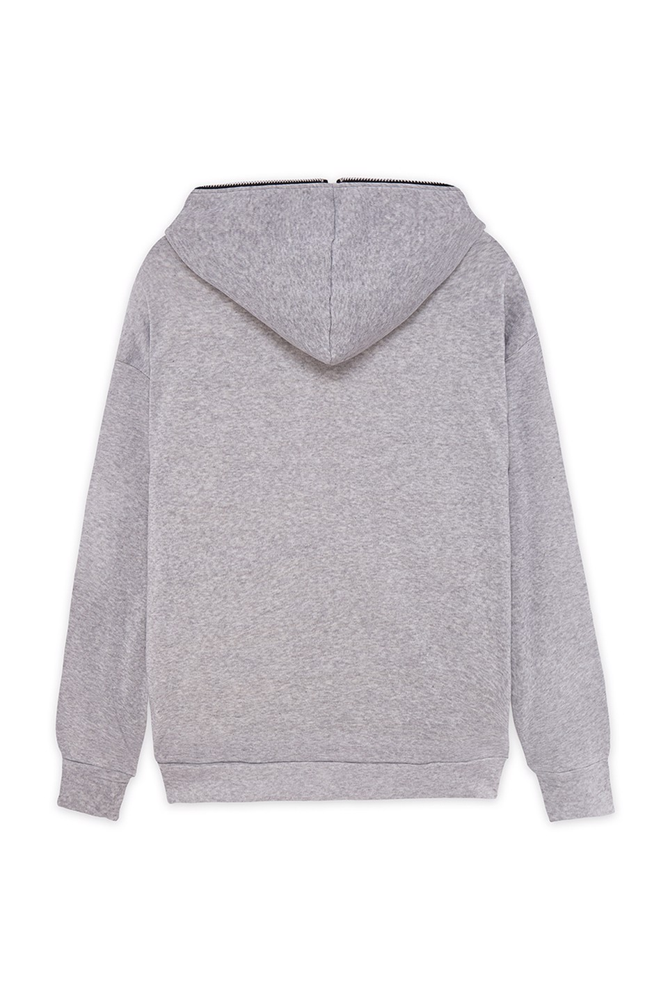 Hoodie MiddleZip - Grey
