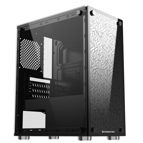 Vỏ Case XIGMATEK NYX (EN43040) - M-ATX, 2 SIDE TEMPERED GLASS (No Fans)