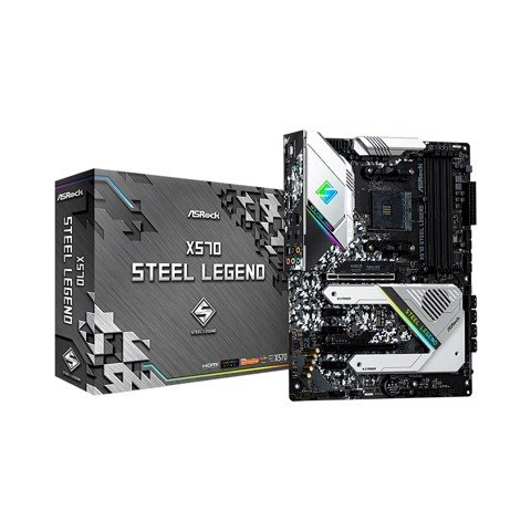 Mainboard ASROCK X570 Steel Legend (AMD X570, Socket AM4, ATX, 4 khe RAM DDR4)