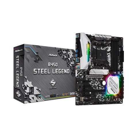 Mainboard ASROCK B450 STEEL LEGEND (AMD B450, Socket AM4, ATX, 4 khe RAM DDR4)