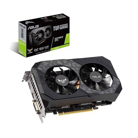 Card màn hình ASUS TUF GTX 1660 Super-6G GAMING (6GB GDDR6, 192-bit, DVI+HDMI+DP, 1x8-pin)