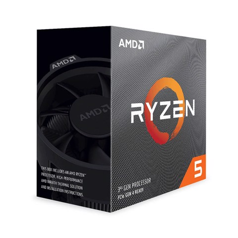 CPU AMD Ryzen 5 3600 (3.6GHz turbo up to 4.2GHz, 6 nhân 12 luồng, 32MB Cache, 65W) - Socket AMD AM4