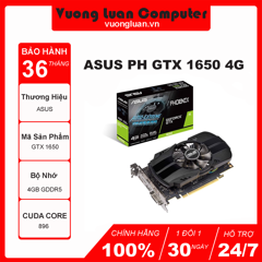 ASUS PH GTX 1650-4G (4GB GDDR5, 128-bit, DVI+HDMI+DP)
