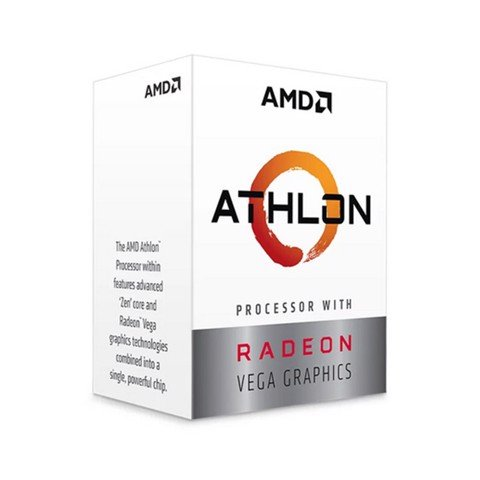 CPU AMD Athlon 240GE (3.5GHz, 2 nhân 4 luồng, 5MB Cache, Radeon Vega 3, 35W) - Socket AMD AM4