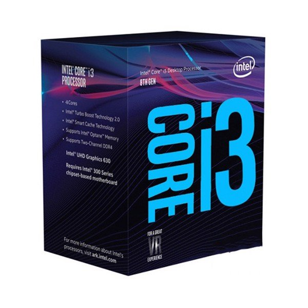 CPU Intel Core i3 8100 (3.6GHz, 4 nhân, 4 luồng, 6MB Cache, 65W) - Socket Intel LGA 1151-v2