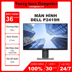 Màn hình Dell P2719H (27 inch/FHD/LED/IPS/DP/HDMI+VGA/250cd/m²/60Hz/5ms)