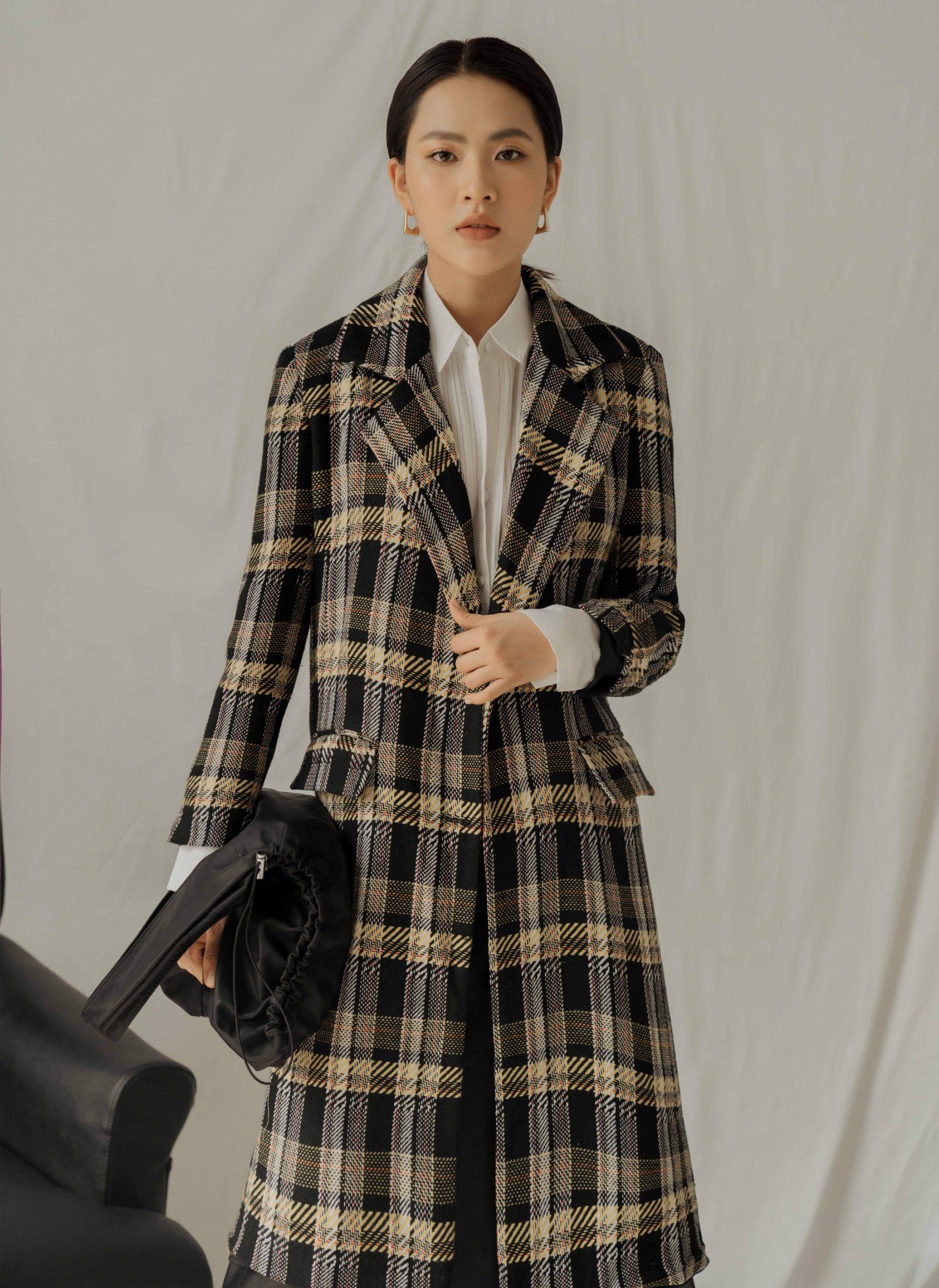 TAILORED PLAID COAT - DPH19-009