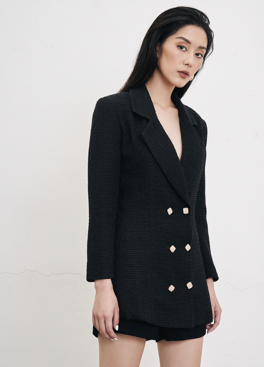 TAILORED TWEED FROCK DRESS - DPFW19-013