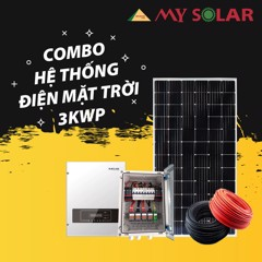 COMBO HỆ THỐNG ĐIỆN MẶT TRỜI 3KWP - 5KWP - 10KWP ON GRID