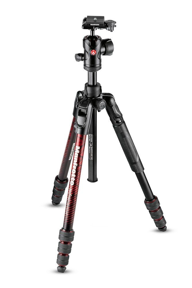 BỘ CHÂN MÁY MANFROTTO BEFREE ADVANCED ALU TRAVEL RED KIT BALL HEAD KHÓA XOAY