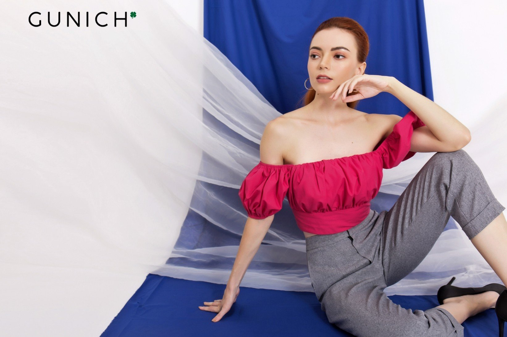 Stay Tuned Fuchsia Off-Shoulder Crop Top