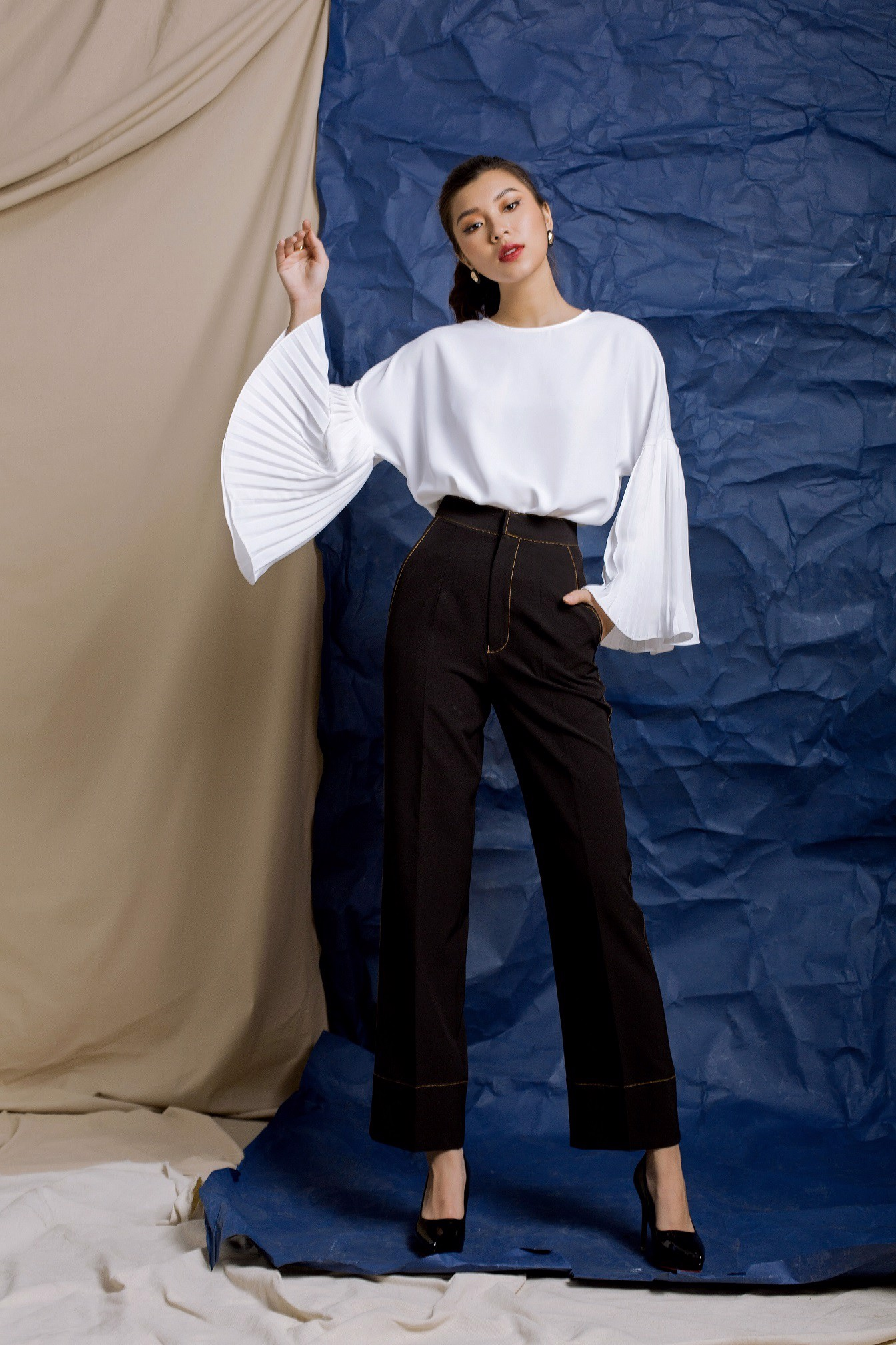 Kick It Black High-waist Pants