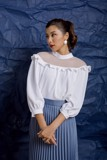 Sweetest Love Sheer Collar Blouse