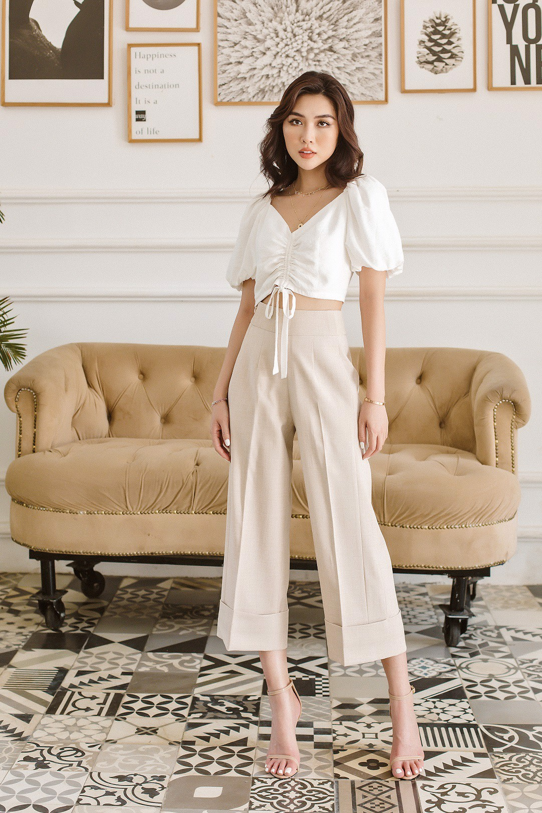 Break Away Cuffed Culottes Pants