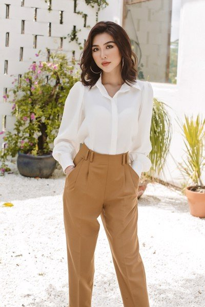 Boss Mode White Puff Long Sleeves Blouse