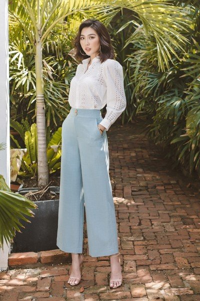Chic Takeover Blue High-Rise Pants