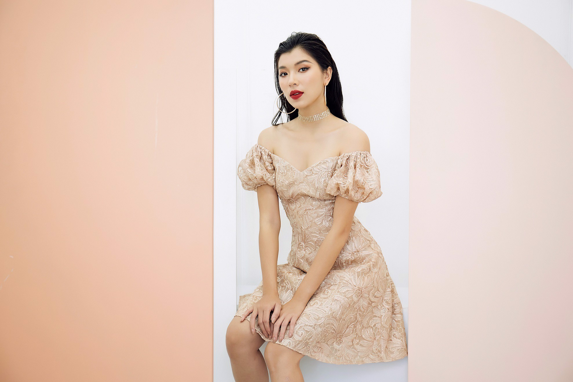 Belle âme Off-shoulder Mini Dress