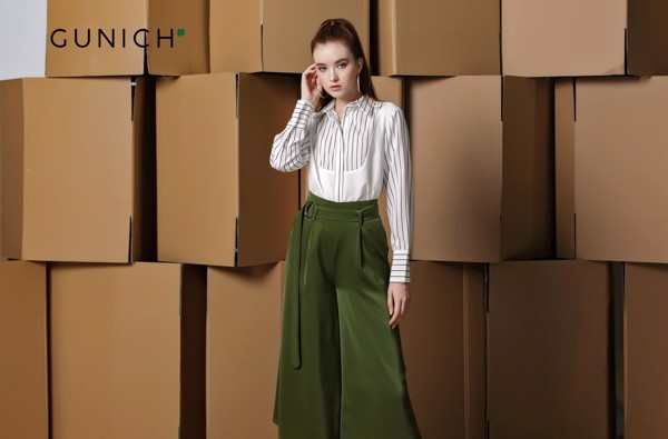 Alisa Clarke Olive Green Culottes Pant
