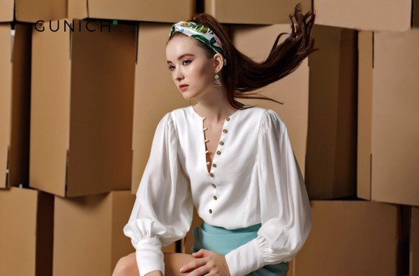 Laura Adler White Blouse