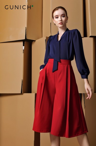 Alisa Clarke Wine Red Culottes Pant