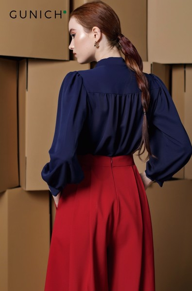 Style Education Navy Blue Blouse