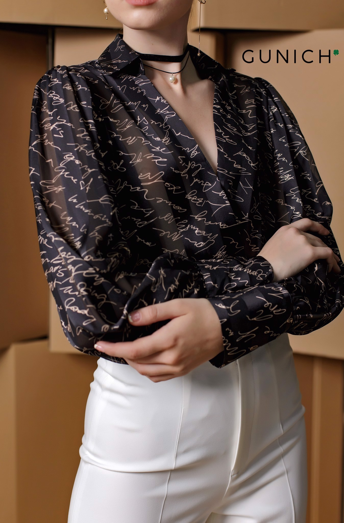 Defining Style Satin Blouse