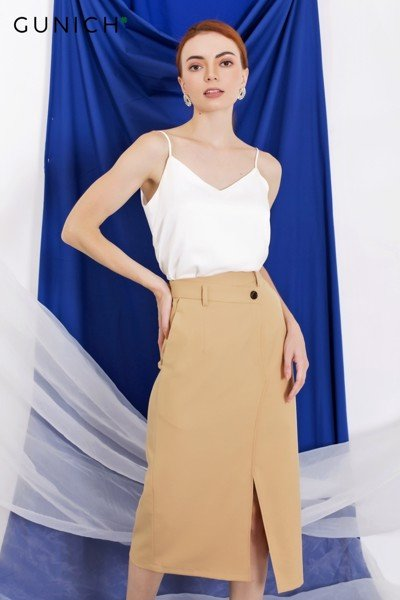 Taking Chances Midi Skirt
