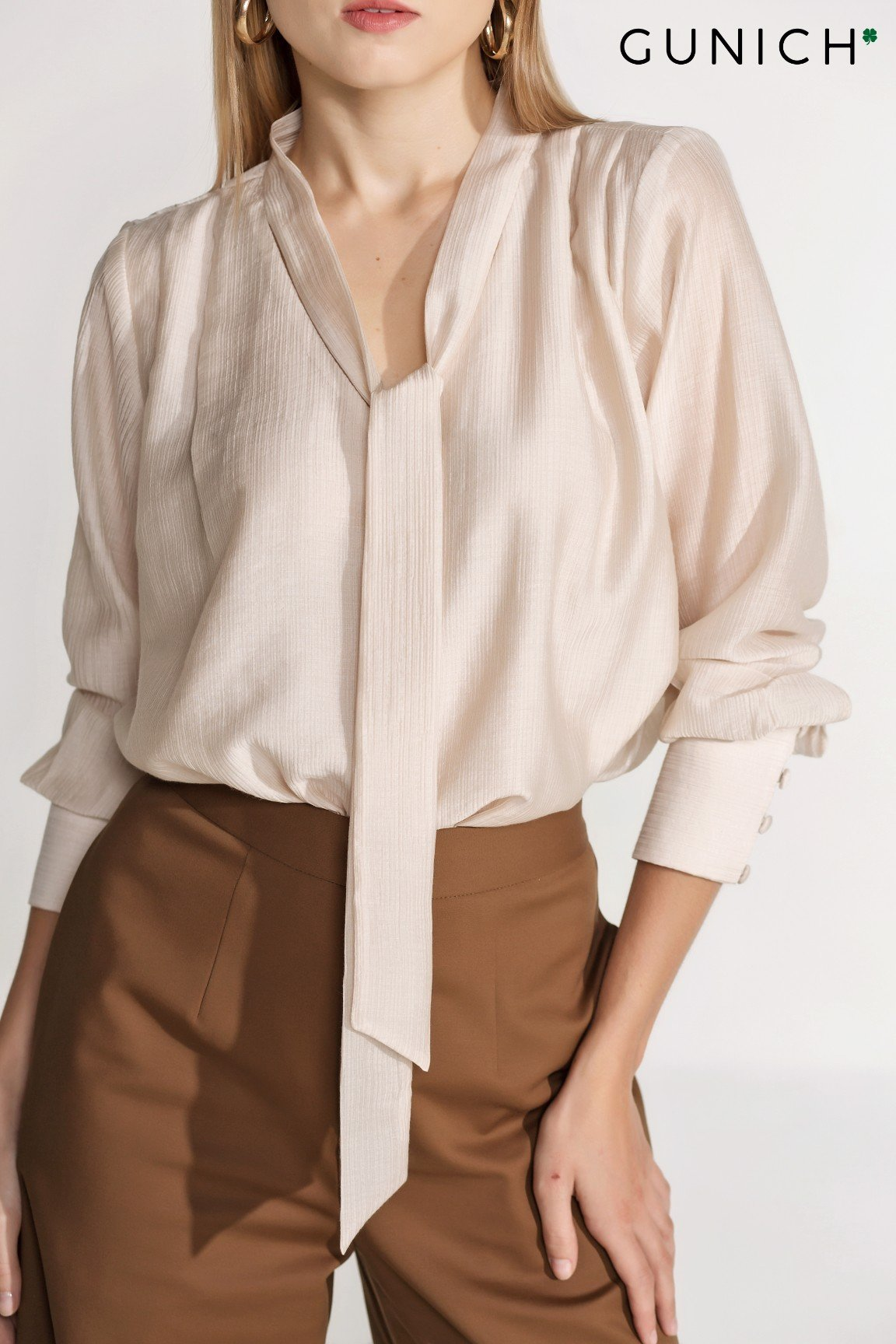 Darling Touch Silk Blouse