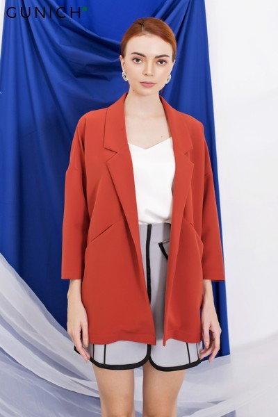 Chérie Rust Red Blazer