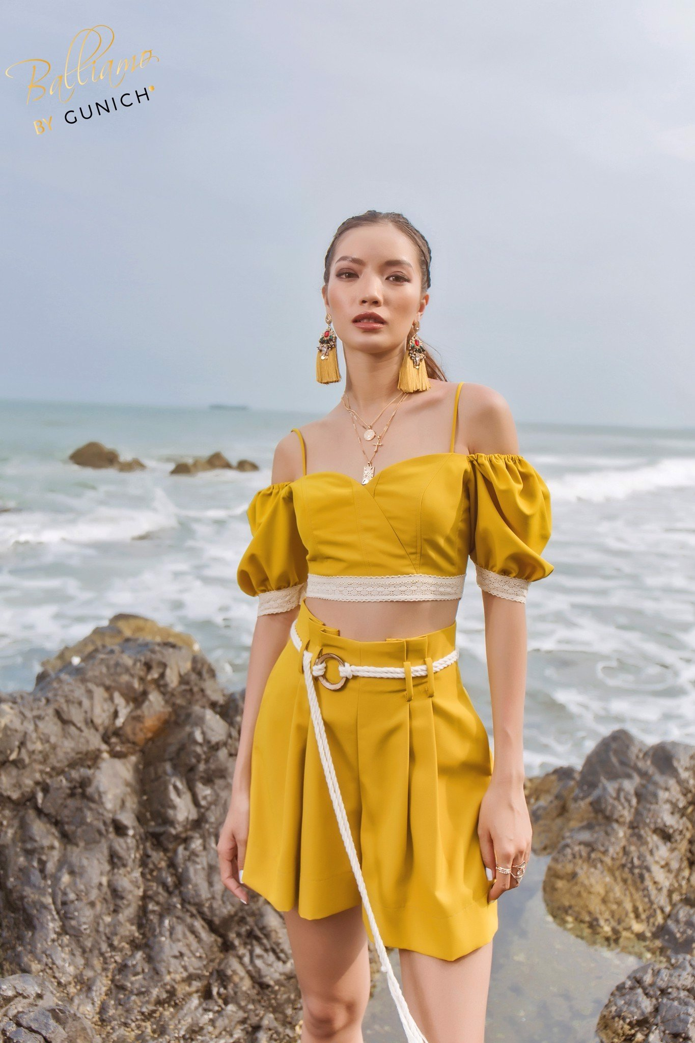 Isla Mustard High-waist Short