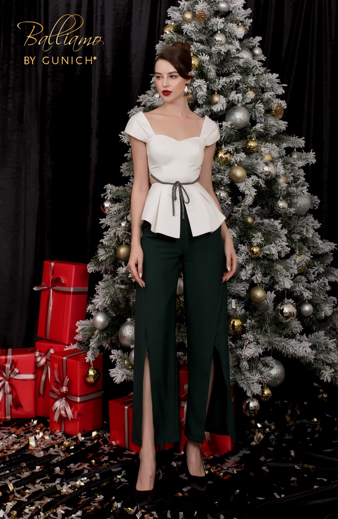 Kareen Midnight Green Pants