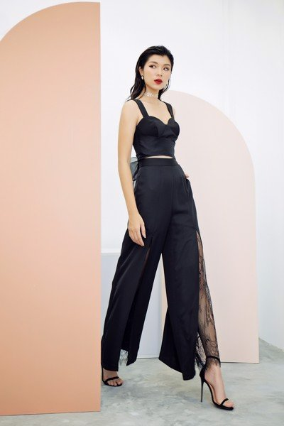 Dance It Out Black Culottes Pant