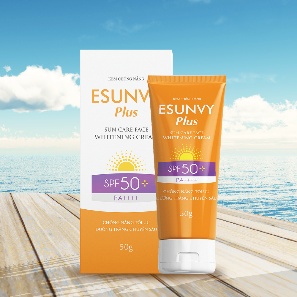 Kem chống nắng Esunvy Plus Sun Care Face Whitening Cream SPF50+/PA++++