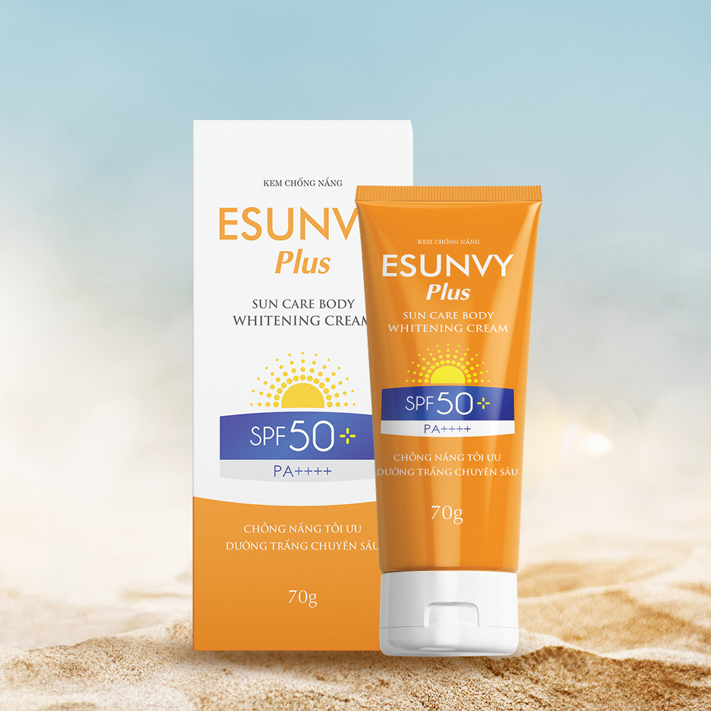 Kem chống nắng Esunvy Plus Sun Care Body Whitening Cream SPF50+/PA++++