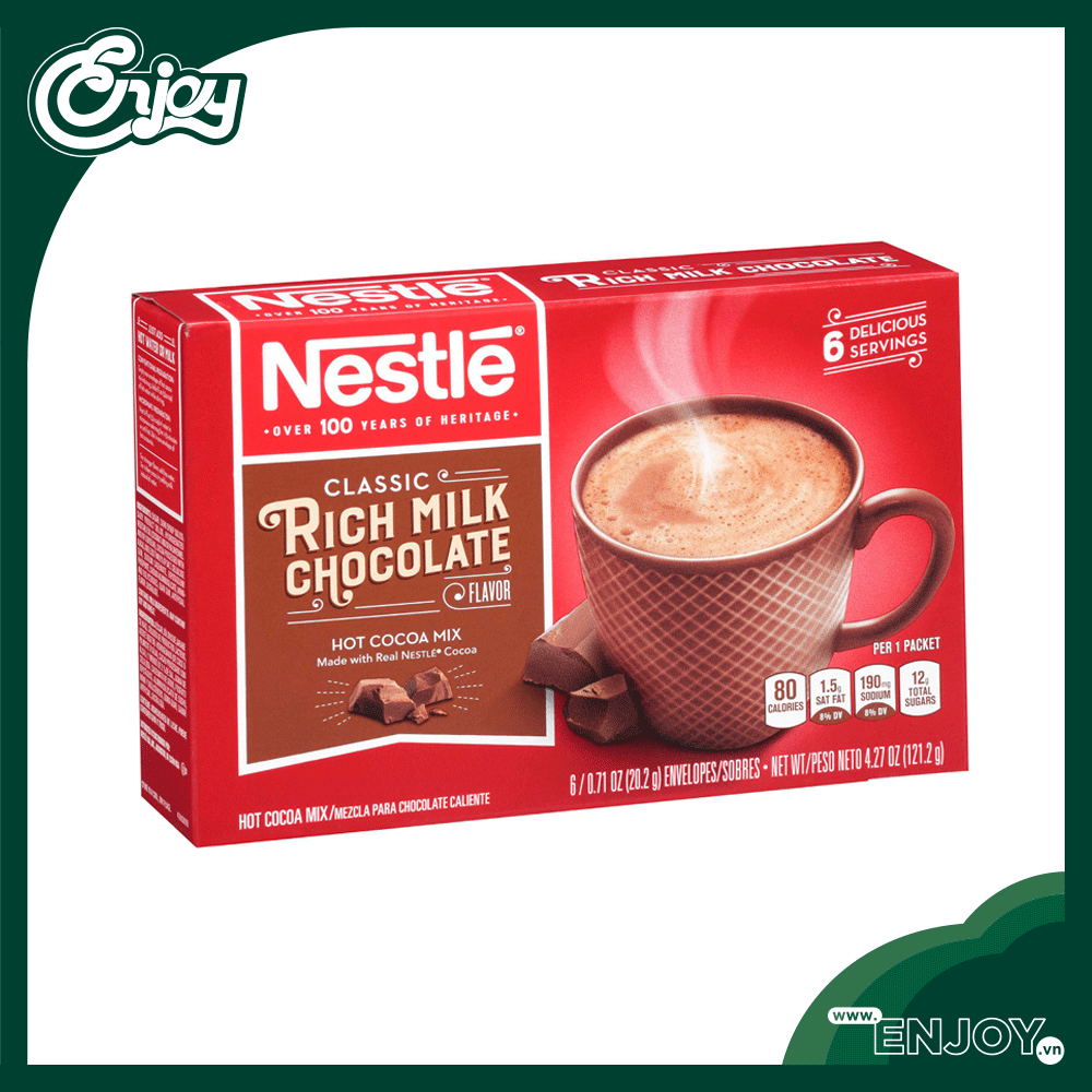Cacao Nestle Rich Milk Chocolate Hot Cocoa Mix 121.2gr