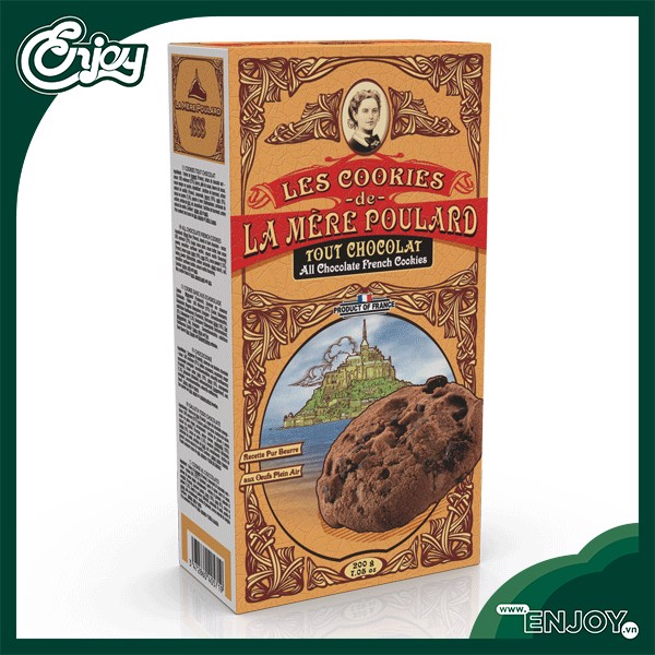 banh quy all chocolate cookie 200g la mere poulard