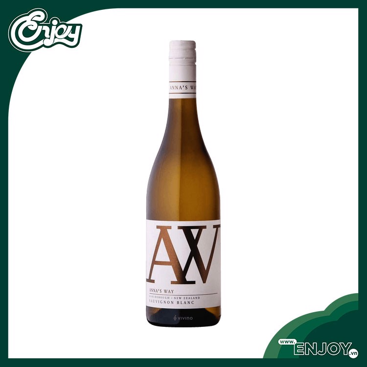 Rượu vang trắng New Zealand  Ann's Way  Sauvignon Blanc 2017 -750ml