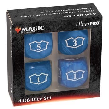 ULTRA PRO: MAGIC THE GATHERING DELUXE LOYALTY DICE - BLUE 4CT 22MM