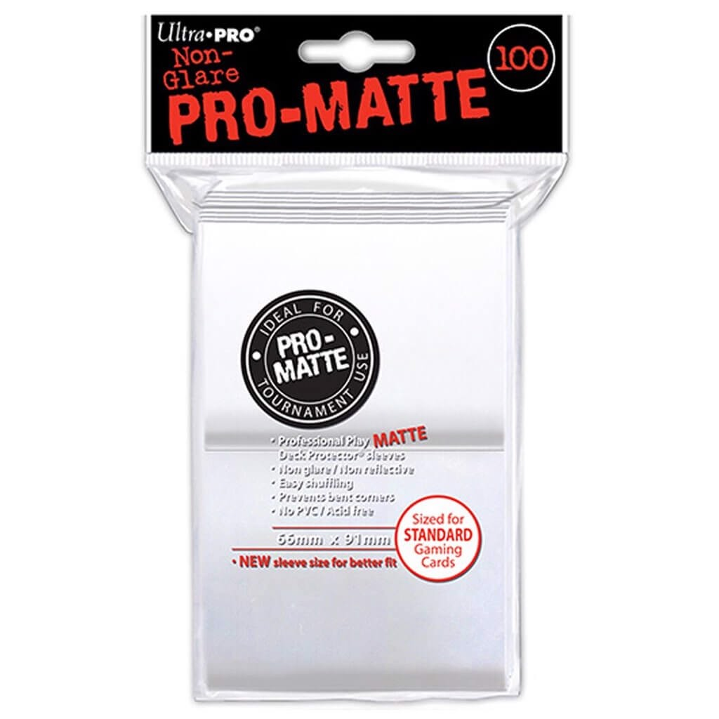 ULTRA PRO: SOLID DECK PROTECTOR - WHITE 100CT 82690