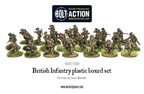 BRITISH INFANTRY - 25 FIGURE BOX SET