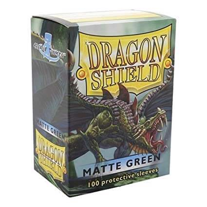 DRAGON SHIELD SLEEVES - MATTE GREEN (x100)
